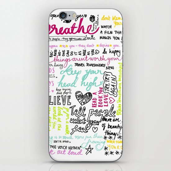 Typography:  Messages to myself iPhone & iPod Skin