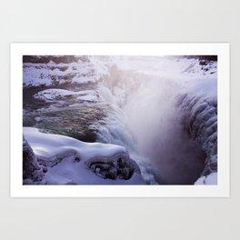 Magic waterfall Art Print