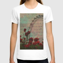 Poppies and Pink Skies T-shirt