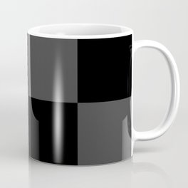 Black 2 Tone Pattern Coffee Mug