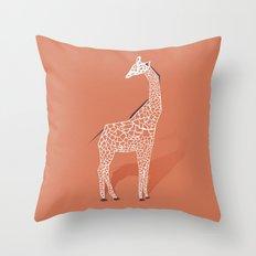 Animal Kingdom: Giraffe I Throw Pillow