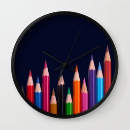 Color Pencil Wall Clock