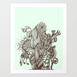 Mint Chocolatey  Art Print
