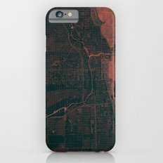 Chicago Map Red Slim Case iPhone 6