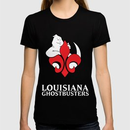 Louisiana Ghostbusters Logo with Black Background T-shirt
