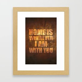 Home Is: Typography Framed Art Print