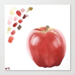 Apple Study with Palette Canvas Print