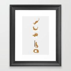 Cat Ballet Framed Art Print