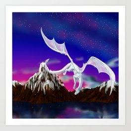 Dragon of the Stars - Itisha the Dragoness Art Print
