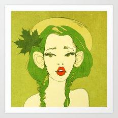 selfie girl_10 Art Print