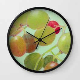 Grapes #8 Wall Clock