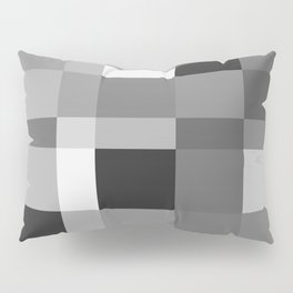 Grayscale Check Pillow Sham