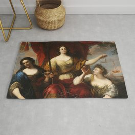 Prudence, Justice, and Peace by Jürgen Ovens, 1662 Rug