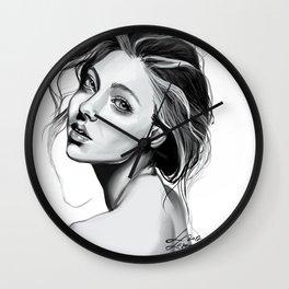 Grey lady Wall Clock