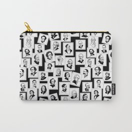 Pattern from stamps with 30 great composers (black&white version) Carry-All Pouch