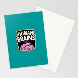 Human Brains Stationery Cards