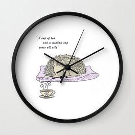 Tea and Sleep (Colour) Wall Clock