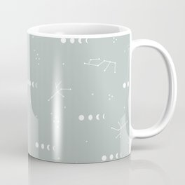 Moon phase boho zodiac sign moss mint green Coffee Mug