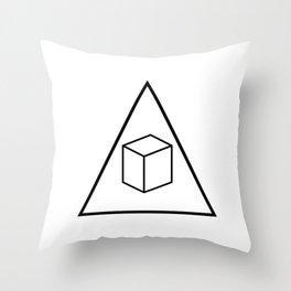 Delta Cubes Throw Pillow