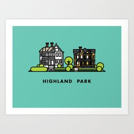 Highland Park Art Print