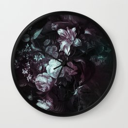 Flowers in a Vase - violet Wall Clock
