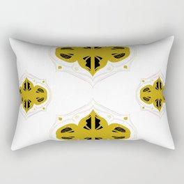 Luxury artistic Mandalas gold white Rectangular Pillow