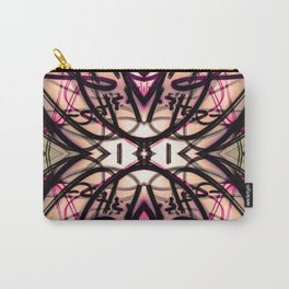 Loopy Lines Abstract Art Plum and Peach Carry-All Pouch
