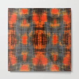 orange brown black and grey painting texture abstract background Metal Print