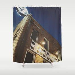 Industrial Glow Shower Curtain