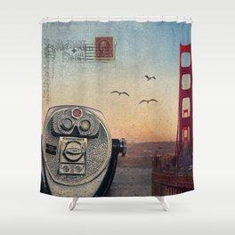 GOLDEN GATE RAIN - San Francisco Shower Curtain