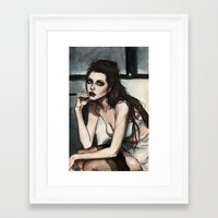 angelina jolie Framed Art Prints featuring Angelina Jolie by vooce & kat