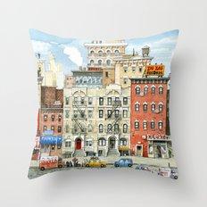 Physical Graffiti Building Throw Pillow