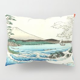 The Great Wave. The Sea At Satta Pillow Sham