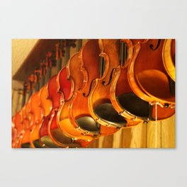 At the Luthiery Canvas Print