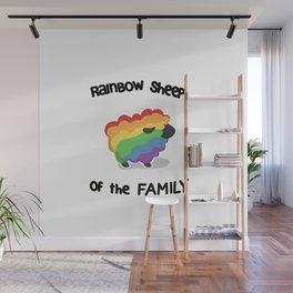 Rainbow sheep Wall Mural