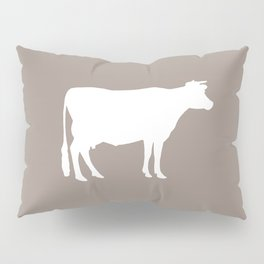 Cow: Beige Pillow Sham