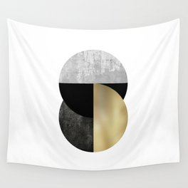 Moon Phase, Mid Century Modern,Scandinavian Abstract Wall Tapestry