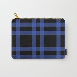 Blue Tartan Carry-All Pouch