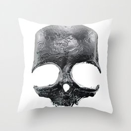 Silver Skull Throw Pillow