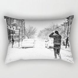 Blizzard in NYC Rectangular Pillow
