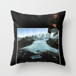 Is not ice, is milk. Throw Pillow