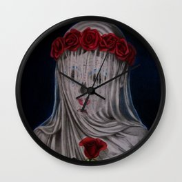 Day Of The Dead Veiled Bride Wall Clock