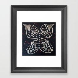 Butterfly Skeleton Framed Art Print