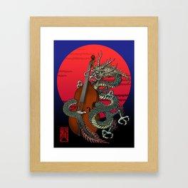 Dragon Contrabass Framed Art Print