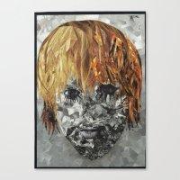 kurt cobain Canvas Prints featuring Kurt Cobain by Smith Smith