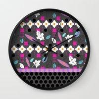 cara Wall Clocks featuring Cara by Julia Minasian