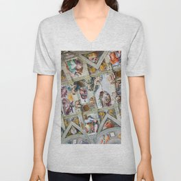 The ceiling of the Sistine Chapel Unisex V-Neck