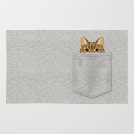 Pocket Tabby Cat Rug