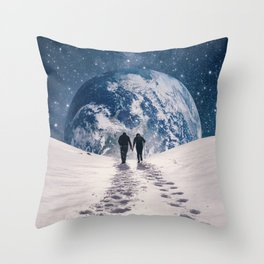 Pale Blue Dot Throw Pillow