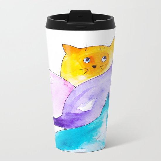 THOUGHTFUL CATS Metal Travel Mug
